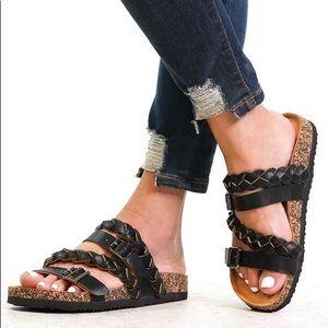 Shoes - LAST 2 left 6 size-⭐️BLACK BRAIDED SANDALS
